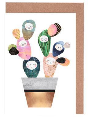 Sleepy Cactus -Grußkarten-Set