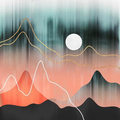 Mountainscape 2 alu dibond