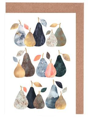 Pears -Grußkarten-Set