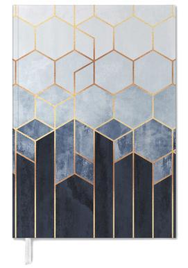 Soft Blue Hexagon -Terminplaner