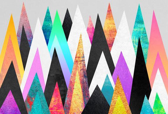Colorful Peaks alu dibond