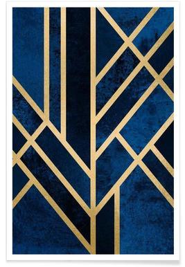 Art Deco Midnight -Poster