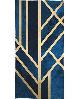 Art Deco Midnight Bath Towel