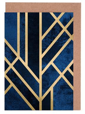 Art Deco Midnight -Grußkarten-Set