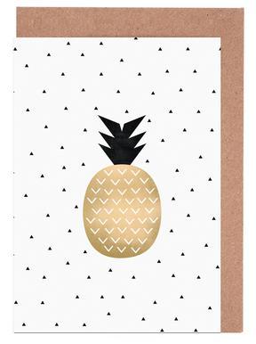 Golden Pineapple -Grußkarten-Set