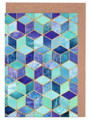 Blue Cubes -Grußkarten-Set