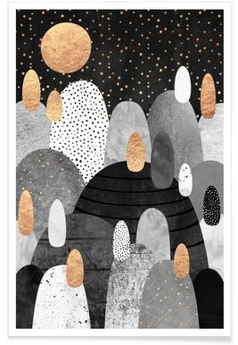 Little Land Of Pebbles By Night poster