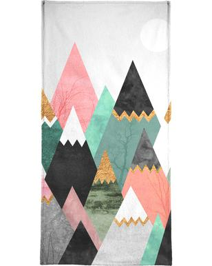Pretty Mountains Beach Towel