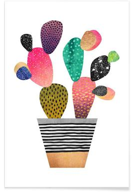 Happy Cactus -Poster