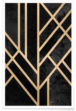 Art Deco Black -Poster
