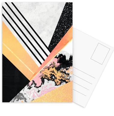 Geometric Summer Postcard Set