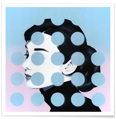 Audrey Dots Poster