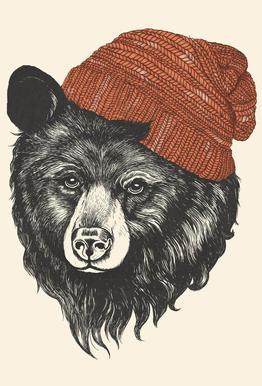 Zissou the Bear Acrylic Print