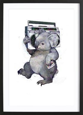 Koala affiche sous cadre en bois