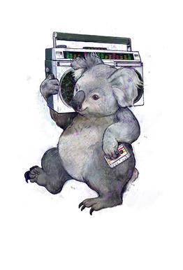 Koala Impression sur alu-Dibond
