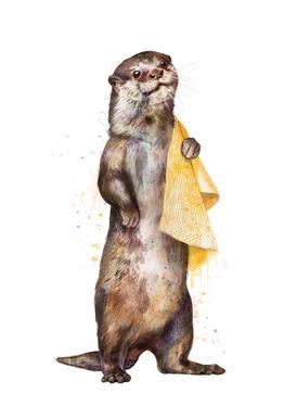 Otter Impression sur alu-Dibond