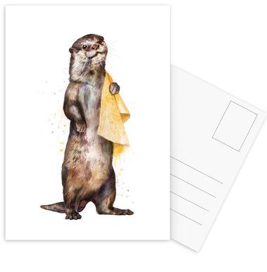Otter -Postkartenset