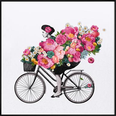 Floral affiche encadrée