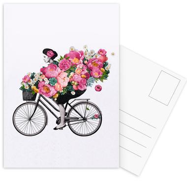 Floral cartes postales