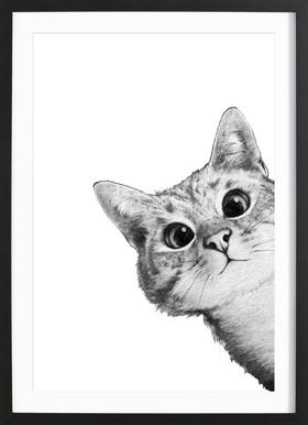 Sneaky Cat Framed Print
