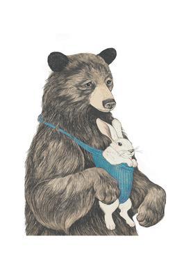Bear Au Pair Canvas Print