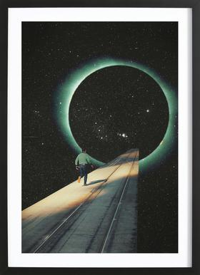 Escaping into the Void Framed Print