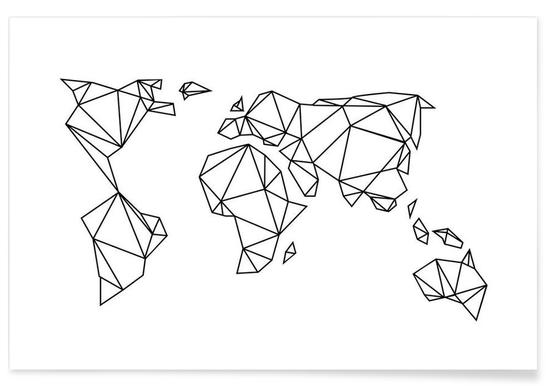 Geometrische Erde - Premium poster