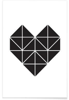 Origami Herz - Premium poster