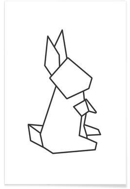 Origami Hase - Premium poster