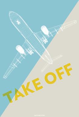 Take Off A340 alu dibond