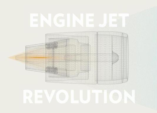Engine jet revolution canvas doek
