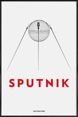 Sputnik 2 - Poster im Kunststoffrahmen