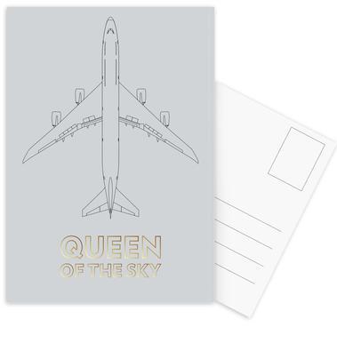 Queen of the Sky Postcard Set