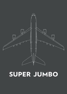 Super Jumbo Airbus A380 canvas doek