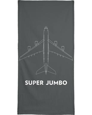 Super Jumbo Airbus A380 Beach Towel