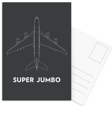 Super Jumbo Airbus A380 Postcard Set