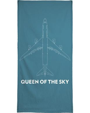 Queen of the Sky Boeing 747 strandlaken