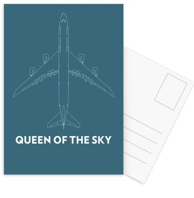 Queen of the Sky Boeing 747 -Postkartenset
