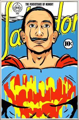 The World Needs a Salvador poster in aluminium lijst