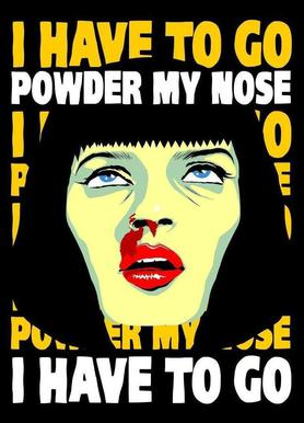 Powder My Nose Canvas Print