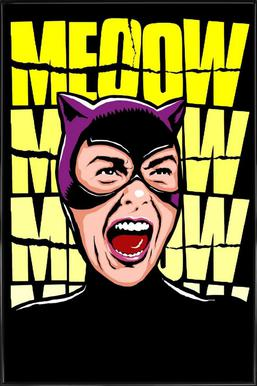 Psycho Cat Framed Poster