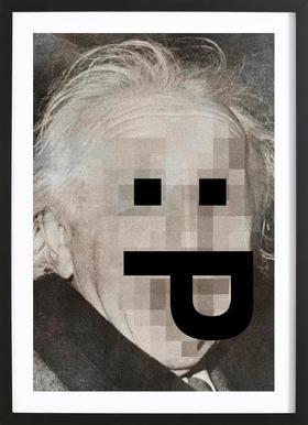 Retro Pop Emoticons Albert Framed Print