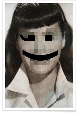 Retro Pop Emoticons Betty Plakat