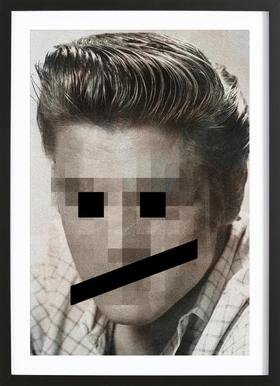 Retro Pop Emoticons Elvis Framed Print