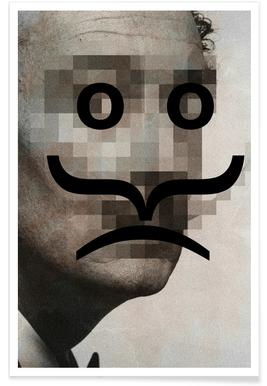 Retro Pop Emoticons Salvador Poster