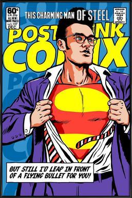 Post-Punk Comix- Super Moz - This Charming Man of Steel ingelijste poster