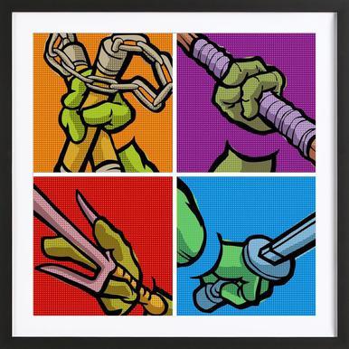 Lichtenstein Pop Martial Art Combo Framed Print