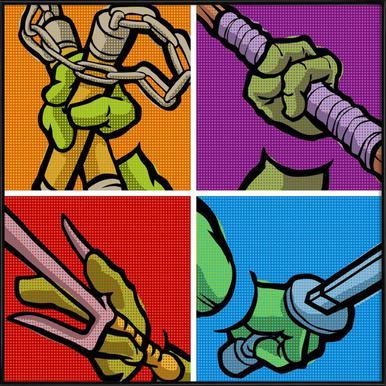 Lichtenstein Pop Martial Art Combo