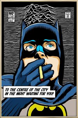 Post-Punk Comix- Bat Curtis Poster in Aluminium Frame