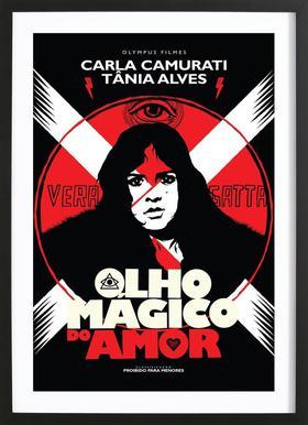 Olho Magico do Amor Framed Print